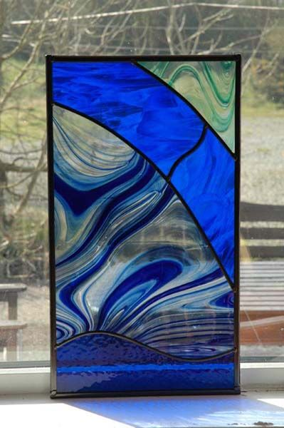 Window Art - Stained Glass and only 5 pieces of glass!