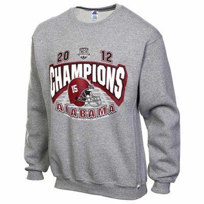 Alabama Crimson Tide 2012 BCS National Champions Crewneck Sweatshirt - Gray