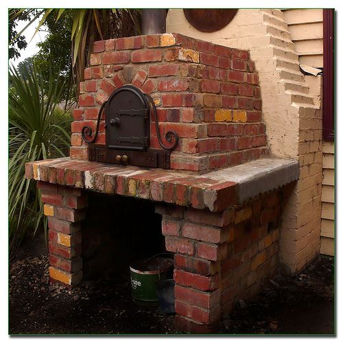 Rustic Kitchen Ovens: Rustic Brick Wood Fired Pizza Oven