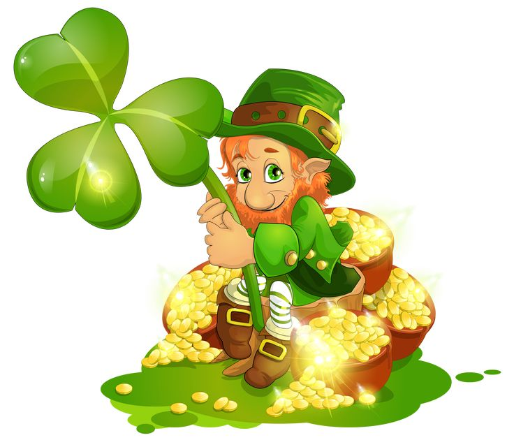 Saint patrick 39 s day leprechaun with pot of gold and - Disney st patricks day images ...