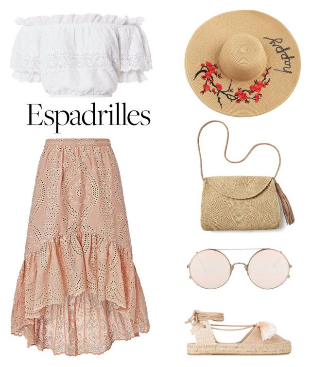 """""""Espadrilles for the day outfit"""" by trishsa on Polyvore featuring Soludos, LoveShackFancy, Mar y Sol and Sunday Somewhere"""