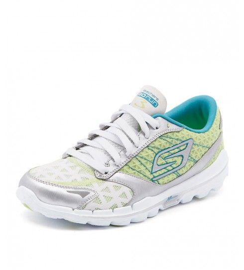 Go Walk 4-Serenity, Chaussures de Running Femme, Gris (Grey/Blue), 36 EUSkechers