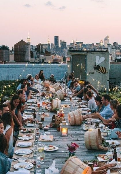 A fab wedding after-party at a NYC rooftop. Definitely on fleek. #wedding #afterparty
