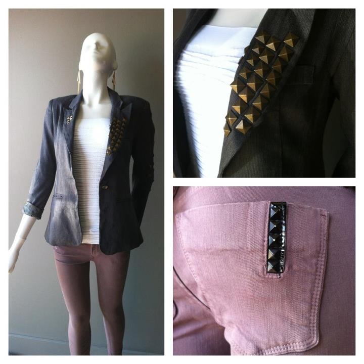 Crush loves studs, blazers and Black Orchids!!