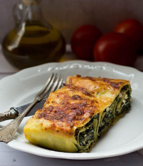 """""""Anya, ez isteni!..."""", avagy Gabojsza konyhája: Spenótos-ricottás lasagne tekercsek"""