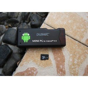 DUSIEC Android 4.0 1G DDR3 4GB A10 1.5GHz Google Wifi TV Player Box MK802 Mini PC With A10/1GHz Cortex-A8 high speed processor Black + extra microSDHC 4GB Card by DUSIEC. $59.99. This is the smallest Android TV player in the world,it looks like a USB flash drive, twice as big as a USB stick,but compared to a regular small Android TV box,the size is only 25%. You can attach it to the back of your TV, easy to hide. It outputs the video to TV via HDMI, a short HDMI cab...