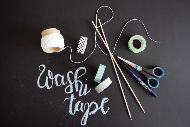 Washi Tape Girlande Cake Topper DIY