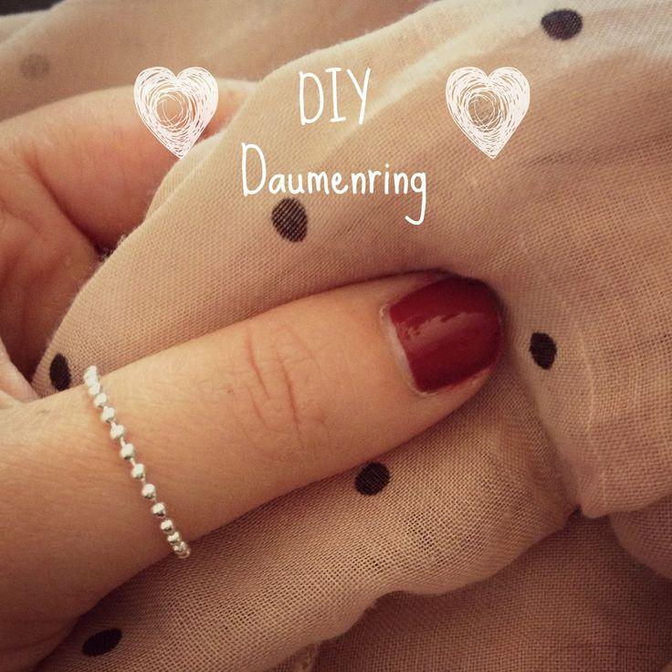IY Das mach ich selber! DIY Ring für Daumen aus silber
