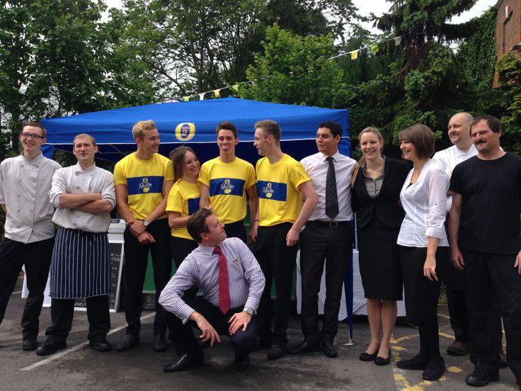 Team Dower House- Ready for the Knaresborough Bed Race!