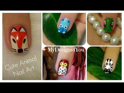 Animal Nail Art Vol.1 | Diseño de Uñas, Animales ♥ Дизайн Ногтей - Животные - YouTube