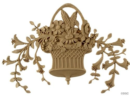 """Beautiful Louis XVI basket Item #7667 8""""H x 10 5/8"""" manufactured by Decorators Supply Corporation, Chicago, Il."""