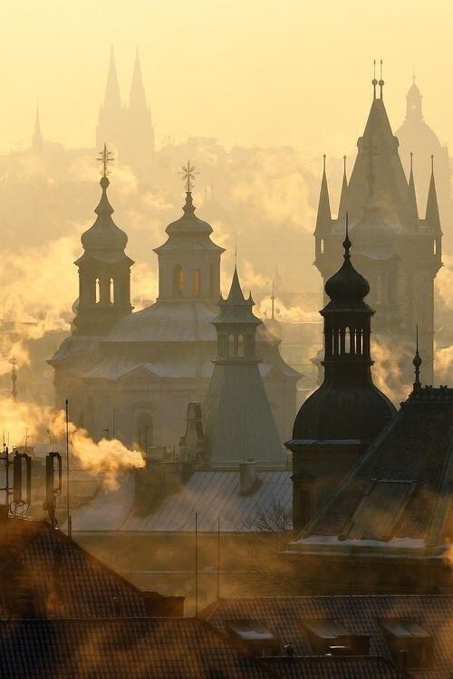 """littlepawz: """" The streets of Prague were a fantasia scarcely touched by the twenty-first century—or the twentieth or nineteenth, for that matter. It was a city of alchemists and dreamers, its medieval cobbles once trod by golems, mystics, invading..."""