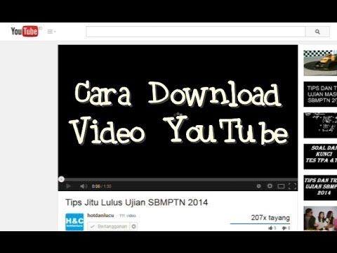 Cara Download Video YouTube Paaling Mudah dan Cepat