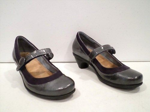 8.90$  Watch now - http://viesr.justgood.pw/vig/item.php?t=4m3udj20356 - Naot Women's Mary Jane Shoes Size 5 EU 36 Pewter Slip On Made in Israel 8.90$