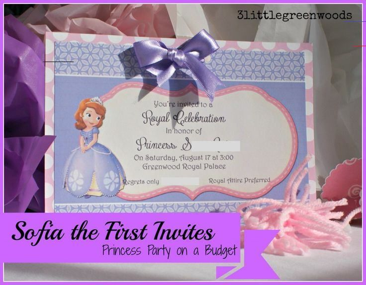 Sofia The First Birthday Invites Sofia The First Birthday Invites Princess Party On A Budget Br Perfect Sofia The First Birthday Invites All On A Budget Fre In 2020