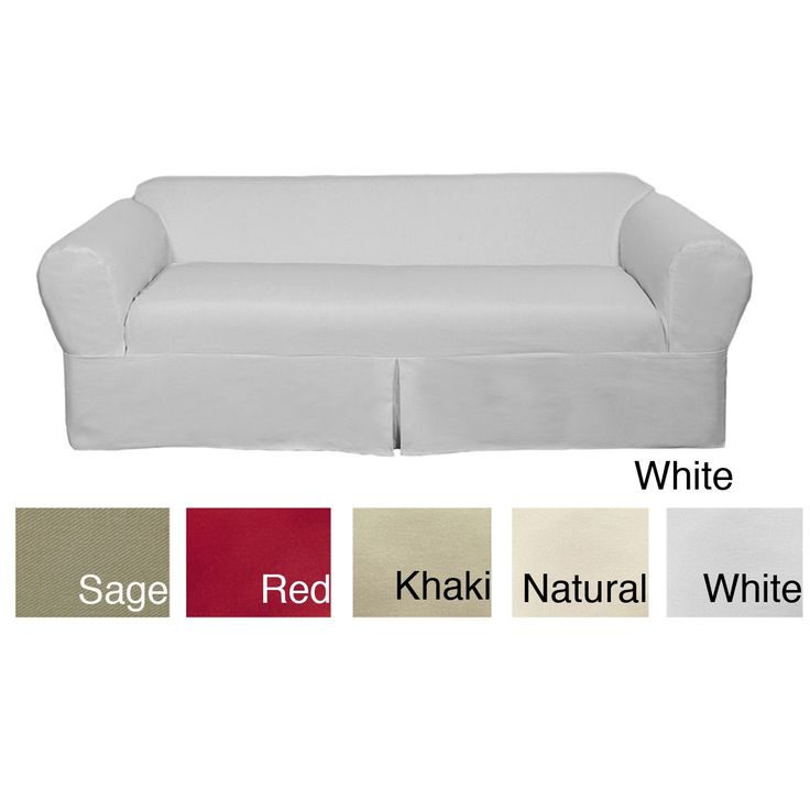 classic twopiece twill sofa slipcover overstock shopping big discounts on classic sofa slipcovers