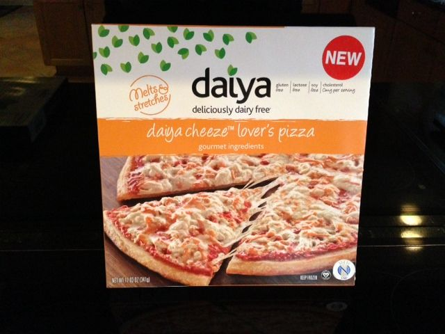 Daiya Cheeze Lover's Pizza.  New Daiya Pizzas are the first brand of dairy-free, gluten-free, soy-free pizza! Available in four delicious flavors: Cheeze Lovers Margherita Fire-Roasted Vegetable Mushroom & Roasted Garlic