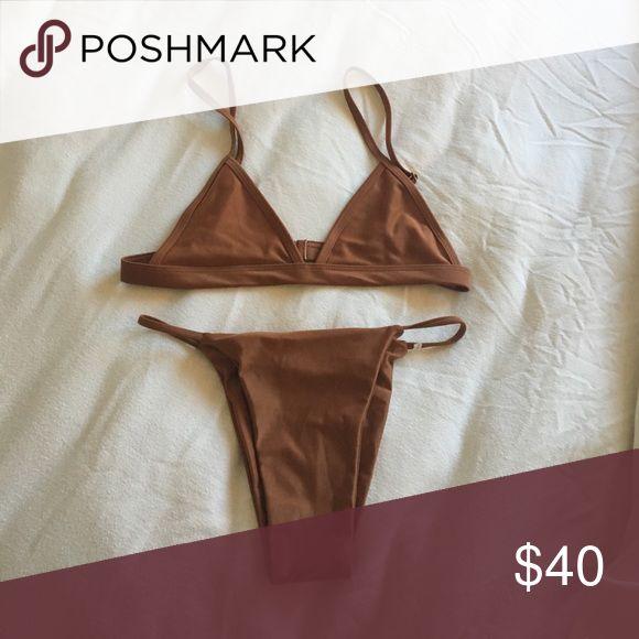 "BNWOT Brown Bikini Set From ""Arabella Swim"" listed as acacia for views acacia swimwear Swim Bikinis"