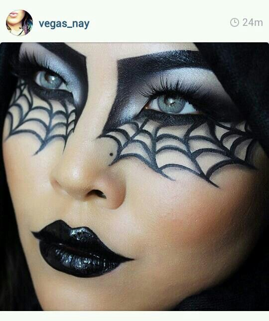 Halloween makeup oct 31st pinterest maquillage artistique et maquillage - Maquillage halloween araignee ...