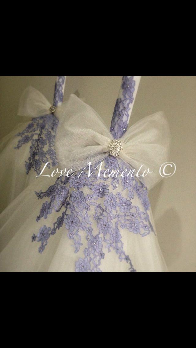 Colour lace wedding Candle
