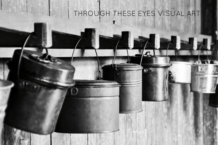 Lunch Pails inside the Renner School House at Dallas Heritage Village.  Photo by Sonia Hernandez Doneghue for Through These Eyes Visual Art.