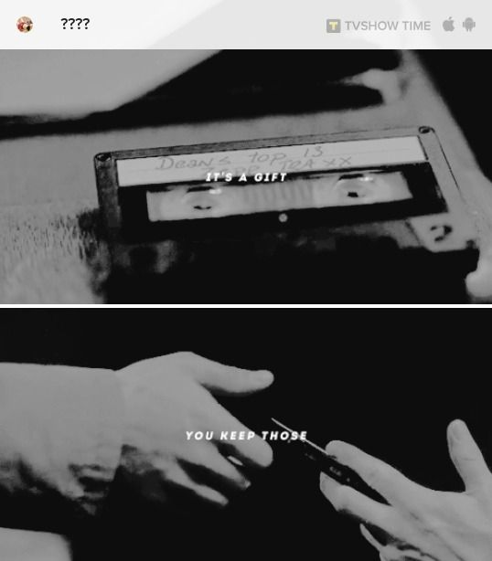 "Supernatural S12E19 Destiel ""It's a gift. You keep those."""