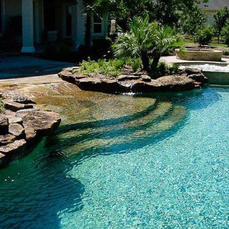 Natural Pool Ideas On Home Backyard 36