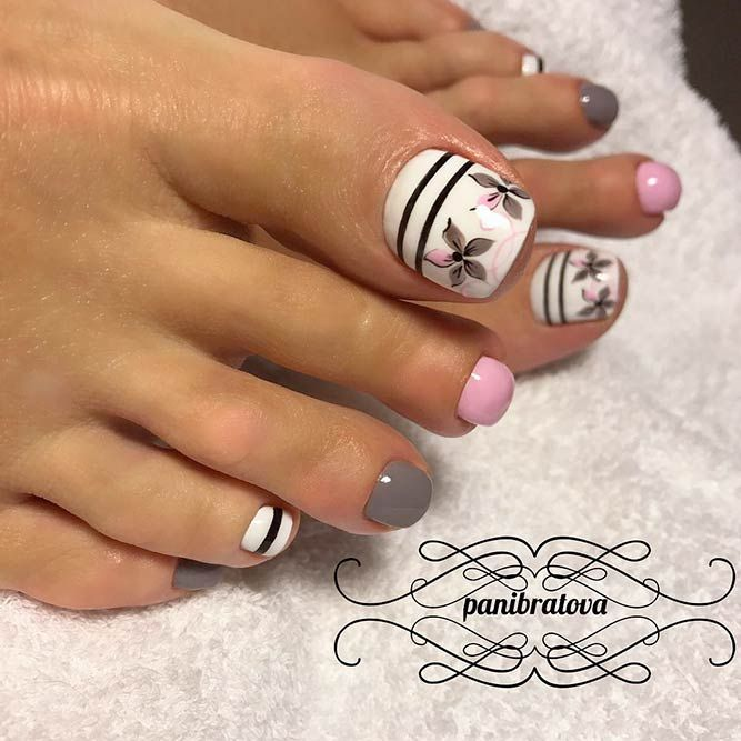 Foot Nail Art Design: 370 Best Toe Nail Designs Images On Pinterest