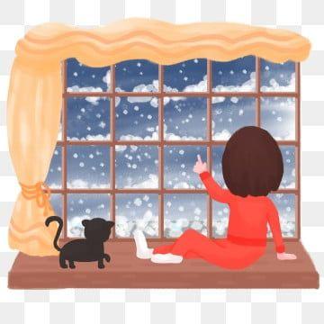 مرسومة باليد الثلج شخصية نافذة الشتاء مشهد ستارة أثناء فتاة الليل عتبة النافذة متزوجة أعطى حيوان ثلج إمرأة رفع شتاء التقدير In 2021 Kids Rugs Winter Night Decor