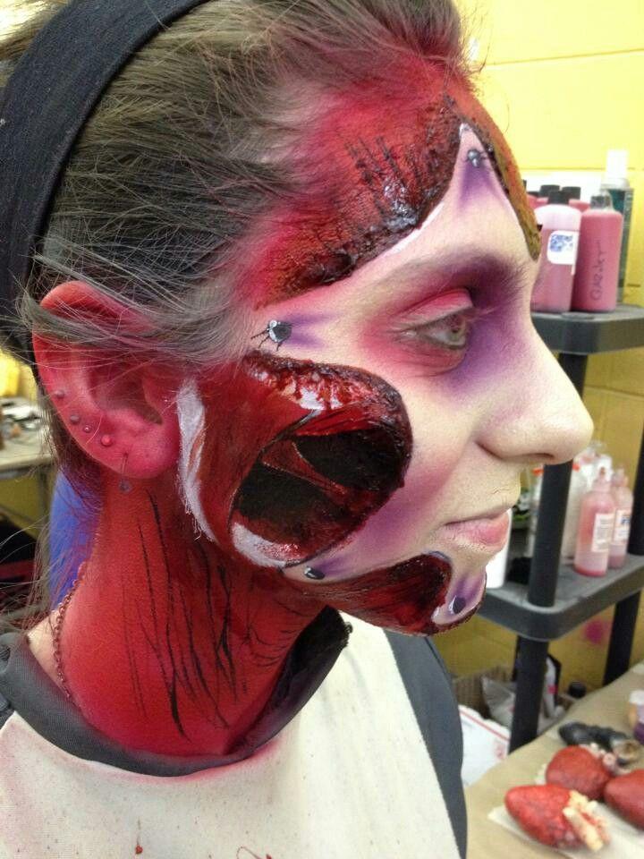 Amazing anatomical textbook make-up