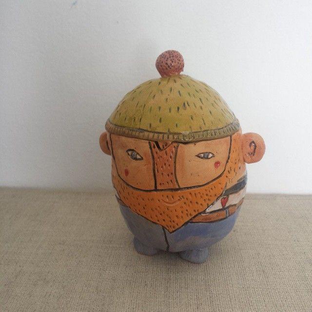 ceramic fisherman