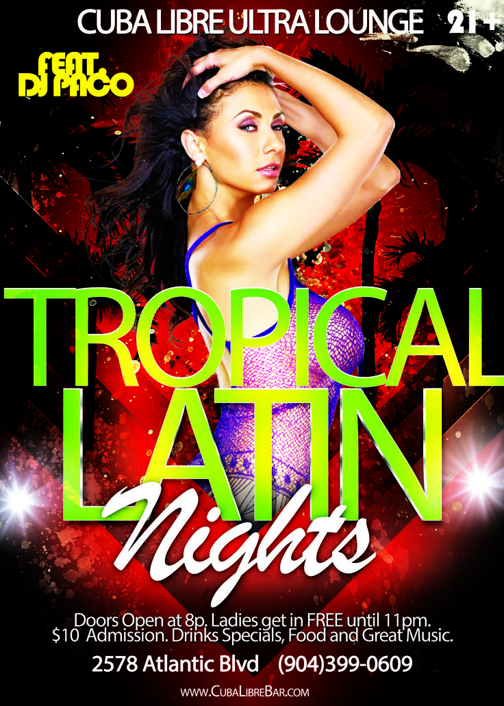Show everyone your salsa moves tomorrow at Tropical Latin Nights!!! Who's got the best salsa moves? Is it you?