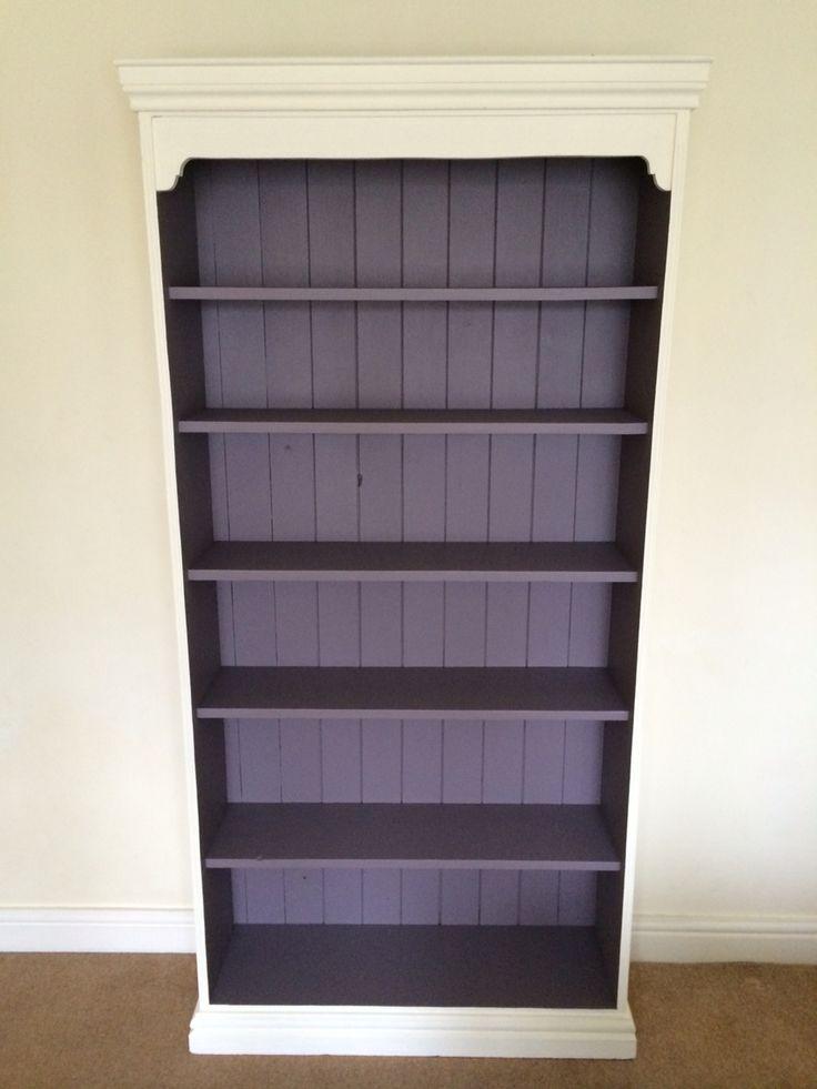 Bookcase in Autentico Amethyst and Regency White