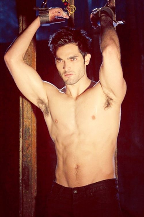 It came to my attention that I don't have nearly enough shirtless pics of Tyler on here. So here's Derek Hale chained up.