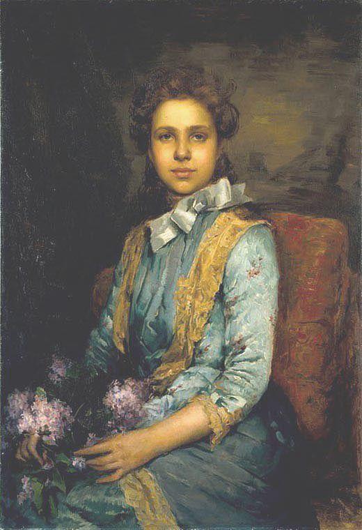 JOSÉ MALHOA (1855-1933). Portrait of Laura Sauvinet. 1888. Oil on canvas. Museu José Malhoa - Caldas da Rainha - Portugal
