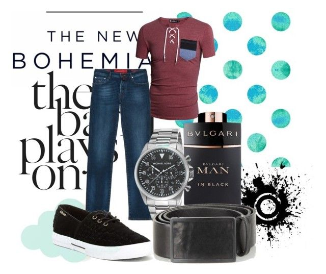 Без названия #19 by nayawilde on Polyvore featuring polyvore, fashion, style, Allegra K, Groove, Michael Kors, Jacob Cohёn, Diesel, Bulgari, American Eagle Outfitters and ferm LIVING