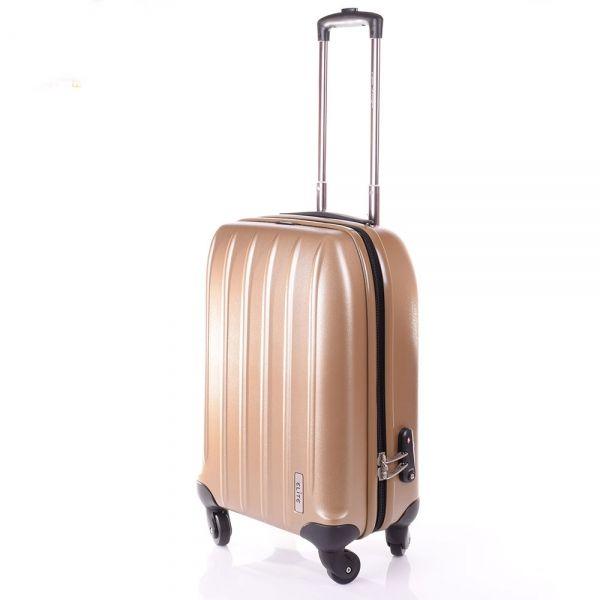 Elite Valise cabine 54cm100% Pure Polycarbonate 21019 Golden