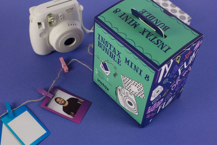 Instax mini 8 Bundle by FujiFilm Australia. Packaging Designed by Zeus Productions