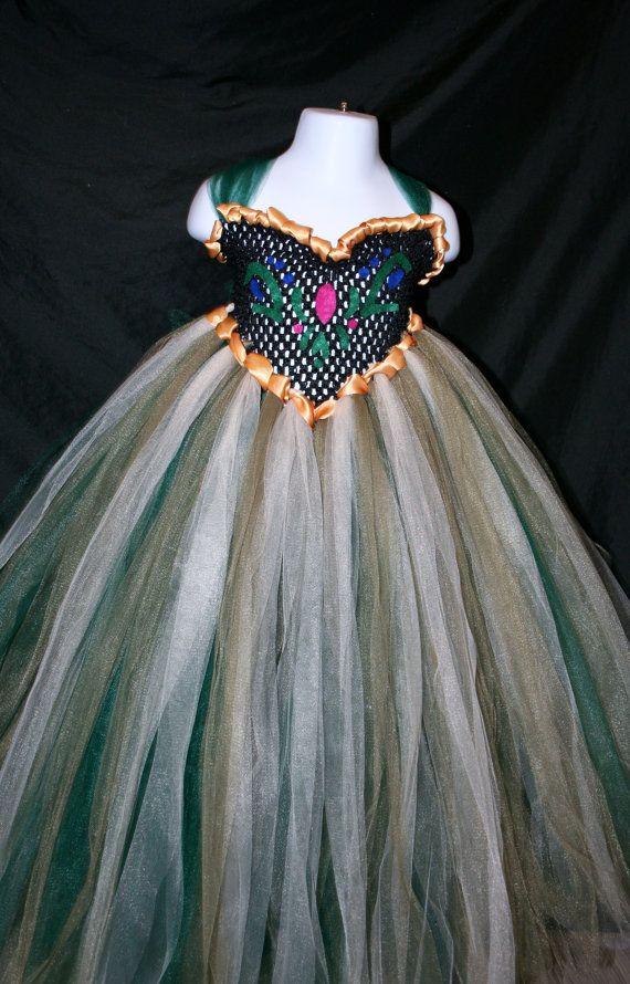 Frozen Inspired Anna Tutu Dress Frozen by LittleMissTrendyTutu