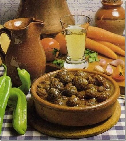 Caracoles, food in cantabria spain