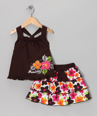 Take a look at this Brown Princess Tank & Ruffle Skirt - Infant, Toddler & Girls by Littoe Potatoes on #zulily today!