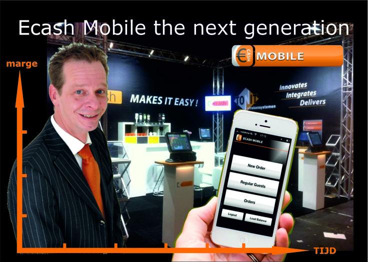 De mobiele oplossing van Ecash zijn zeer gebruiksvriendelijk en gaan mee met hun tijd.  Zo heeft u keuze uit een robuuste handheld oplossing of gaat u liever voor een App op uw Iphone of Ipod ?