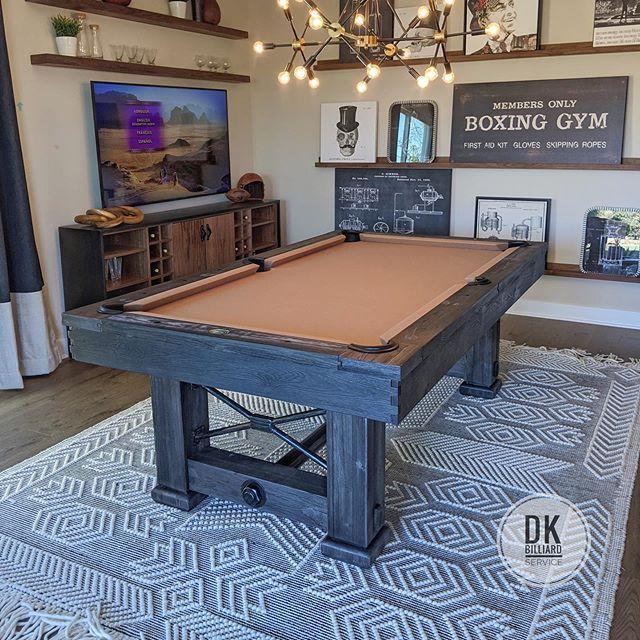 7 Rustic Style Table Setup For Model Home In Irvine Billiards Dkbilliards Playpool Mancave Gameroom Pooltable Play Pool Model Homes Billiards