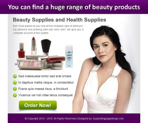 Huge Range Of Beauty Products Order Now Ppv Landing Page Design Landing Page Design Page Design Beauty