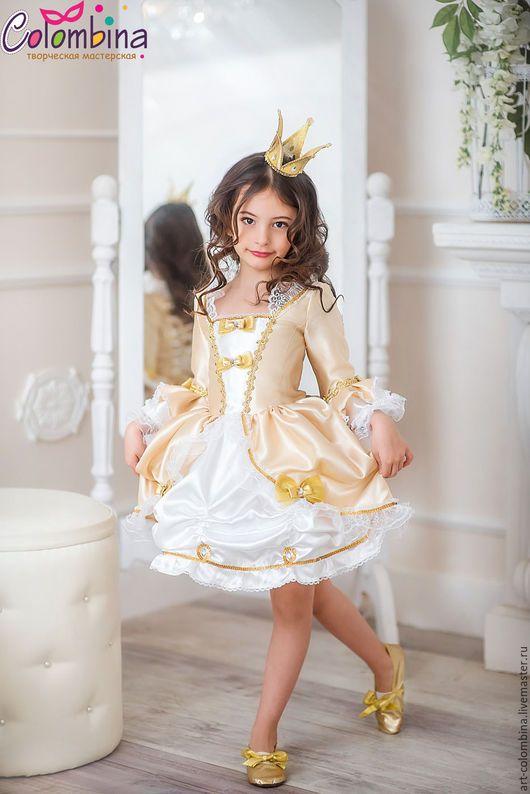 Детские карнавальные костюмы ручной работы. Ярмарка Мастеров - ручная работа. Купить карнавальный костюм принцессы. Handmade. Золотой