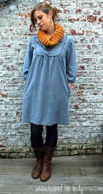 Tova dress - full front with scarf   Flickr - Photo Sharing!