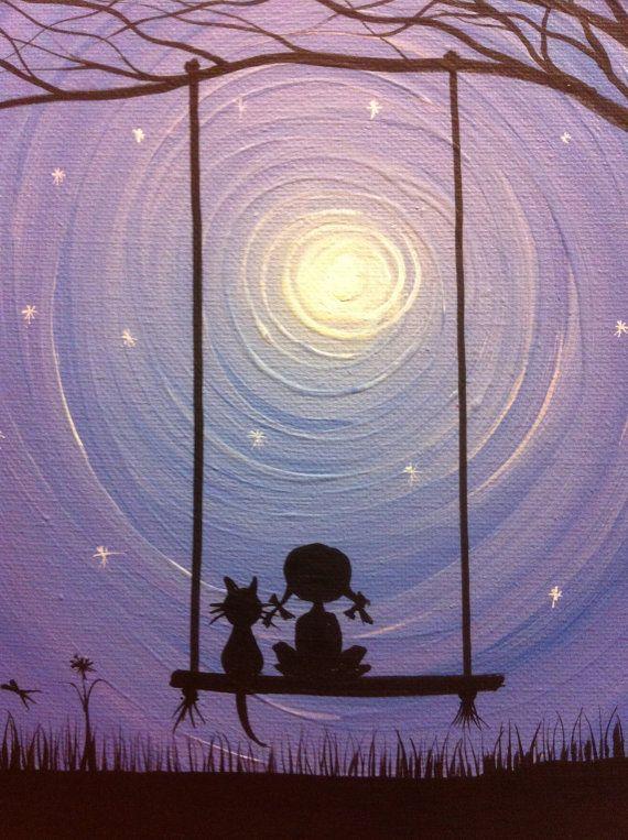 I wish I may  10 x 8 acrylic on canvas panel by MichaelHProsper, $25.00
