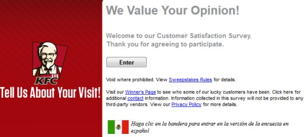 Talk To Kfc Customer Satisfaction Survey  WwwTalktokfcCom