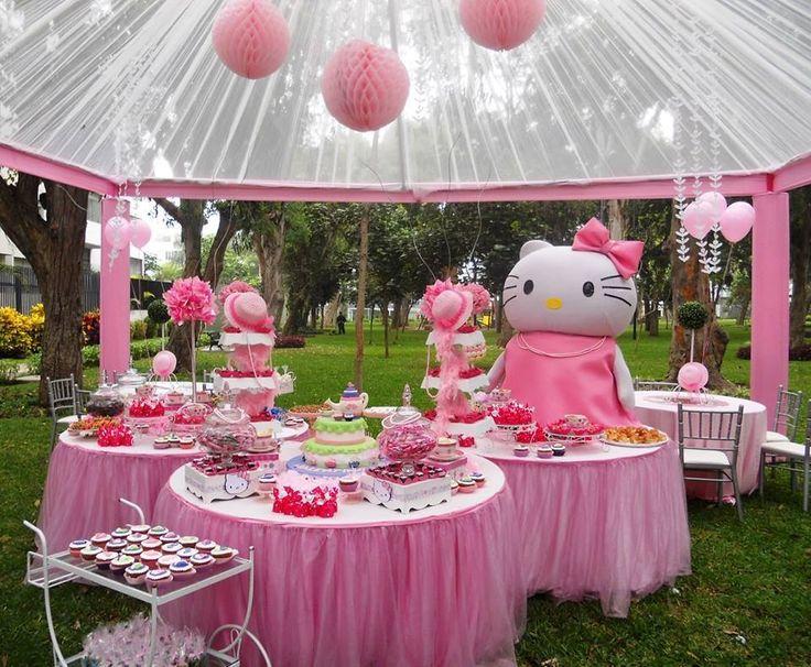 Hello Kitty party idea Kid parties Pinterest Kitty