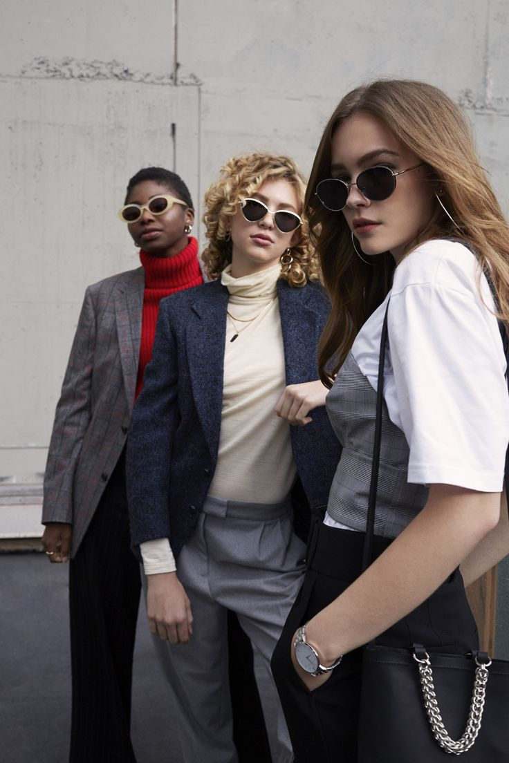 Models are wearing a selection of Sunglasses for ZANE FW17